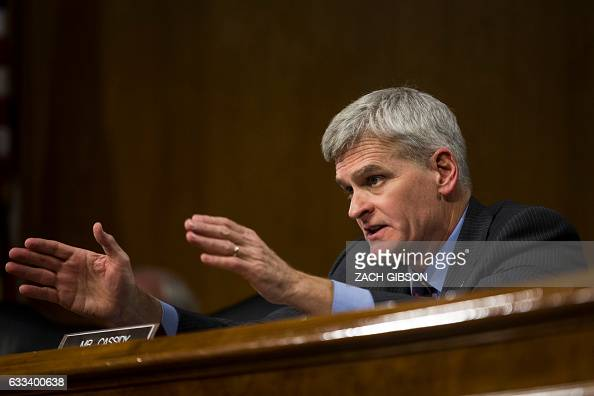 Sen Bill Cassidy speaks during a hearing to Senate Veterans' Affairs hearing to to examine David Shulkin's nomination to be Secretary of Veterans'...