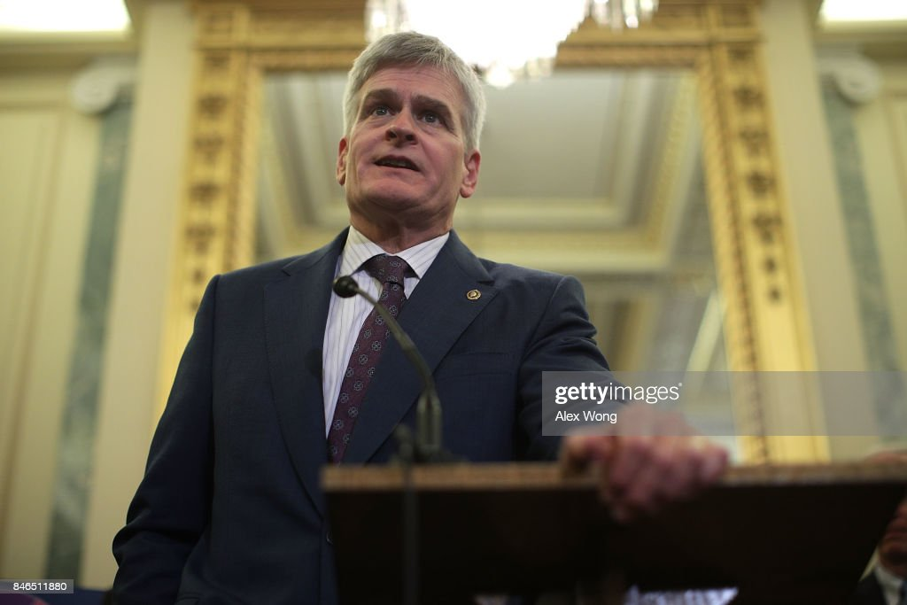 U.S. Sen. Bill Cassidy (R-LA) speaks during a news conference on health care September 13, 2017 on Capitol Hill in Washington, DC. Senators Graham, Cassidy, Heller and Johnson unveiled a proposed legislation to repeal and replace the Obamacare.
