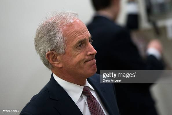 Sen Bob Corker walks to a vote at the US Capitol May 9 in Washington DC Senate Democrats defeated a procedural vote on an energy bill which increases...