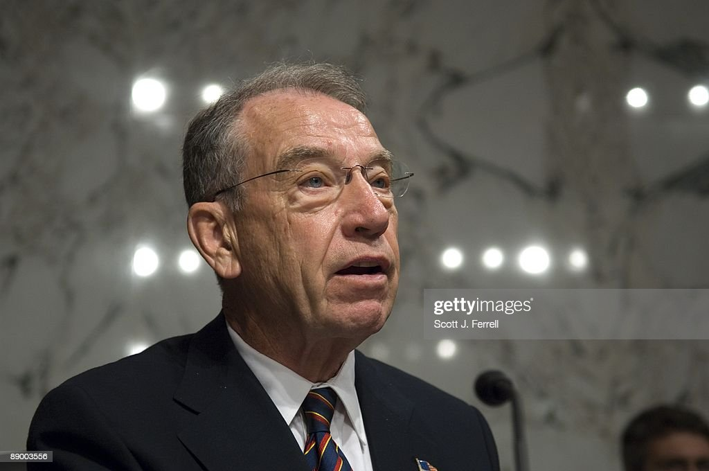 Sen. Charles E. Grassley, R-Iowa, delivers his opening statement during the Senate Judiciary hearing for President Obama's U.S. Supreme Court nominee Sonia Sotomayor.