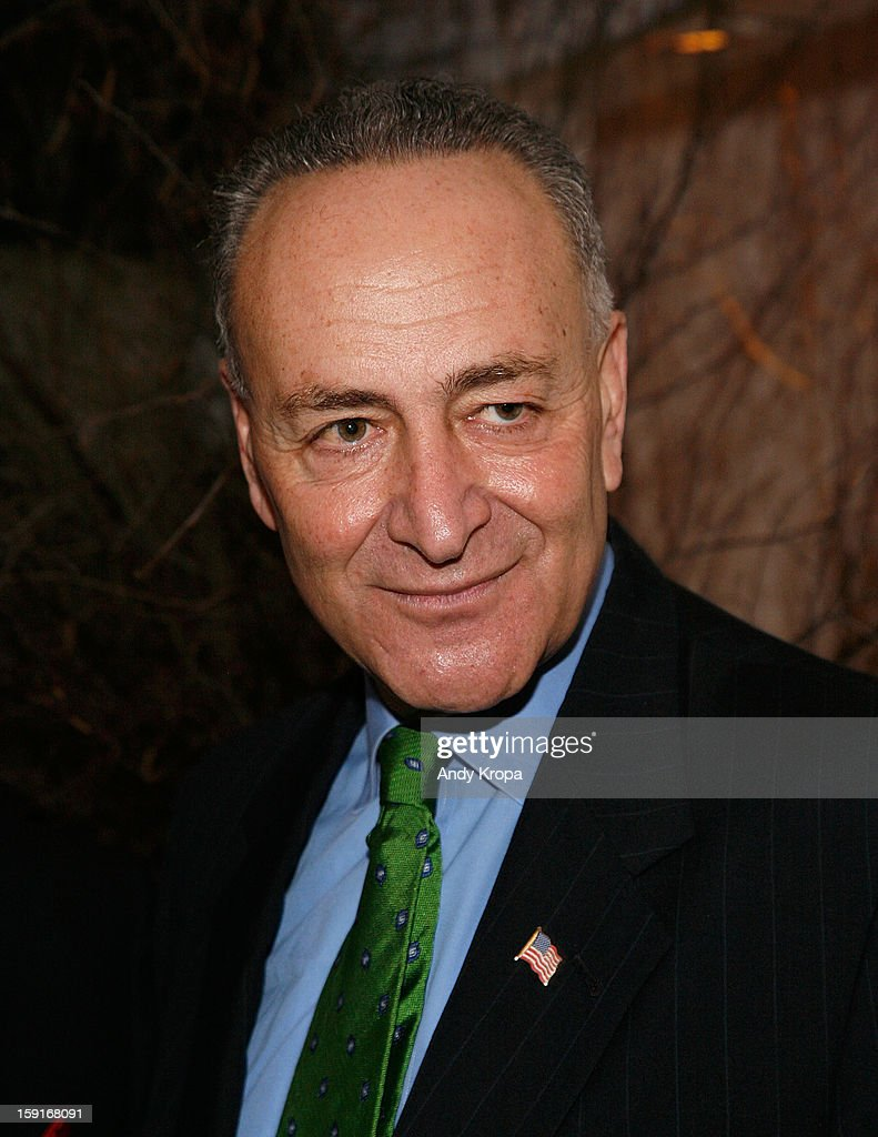 Sen. <a gi-track='captionPersonalityLinkClicked' href=/galleries/search?phrase=Charles+Schumer&family=editorial&specificpeople=171249 ng-click='$event.stopPropagation()'>Charles Schumer</a> attends Loews Regency Hotel's Inaugural Power Breakfast at Park Avenue Winter on January 9, 2013 in New York City.