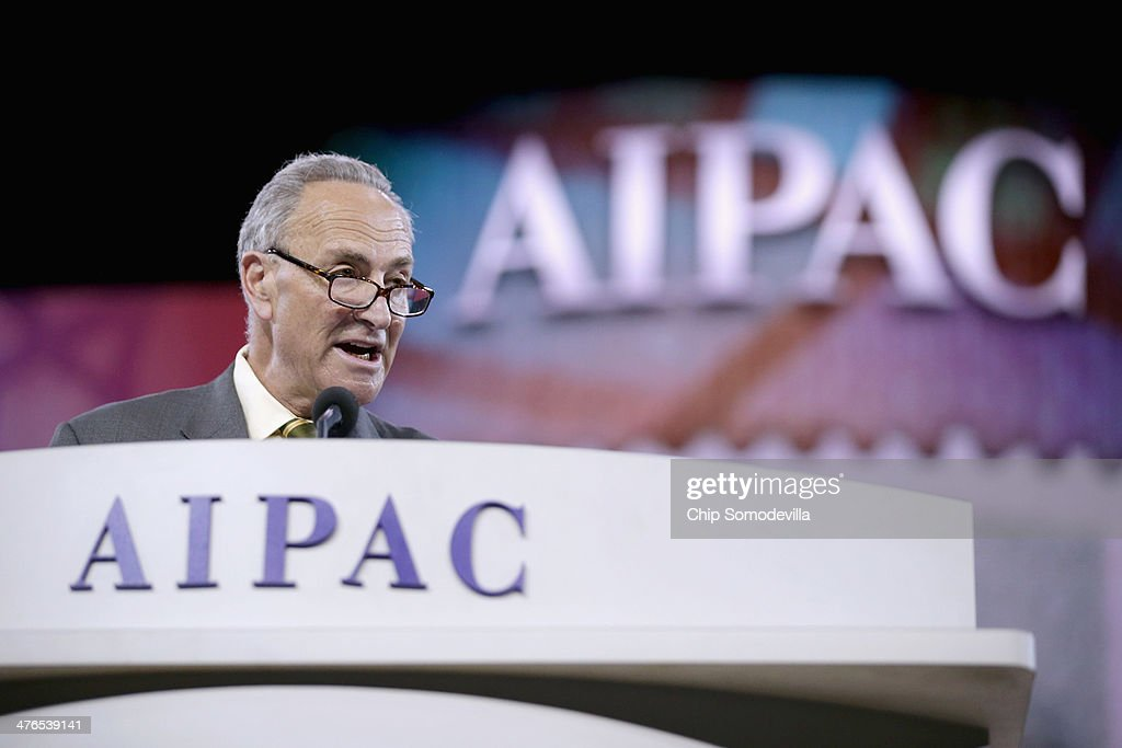 U.S. Sen. Charles Schumer (D-NY) delivers remarks during the American Israel Public Affairs Committee's Policy Conference at the Walter Washington Convention Center March 3, 2014 in Washington, DC. Secretary of State John Kerry is scheduled to address AIPAC and then leave directly from the conference to travel to Kiev to meet with members of Ukraine's new government.