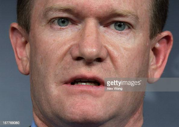 S Sen Christopher Coons speaks during a news conference about the conflict in Syria December 6 2012 on Capitol Hill in Washington DC Coons joined Sen...