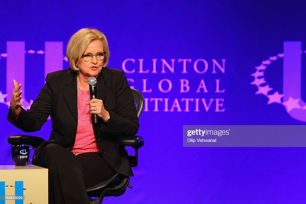 S Sen Claire McCaskill attends the Clinton Global Initiative University at Washington University on April 6 2013 in St Louis Missouri