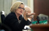 S Sen Claire McCaskill speaks during a hearing before the Senate Commerce Science and Transportation Committee March 11 2010 on Capitol Hill in...