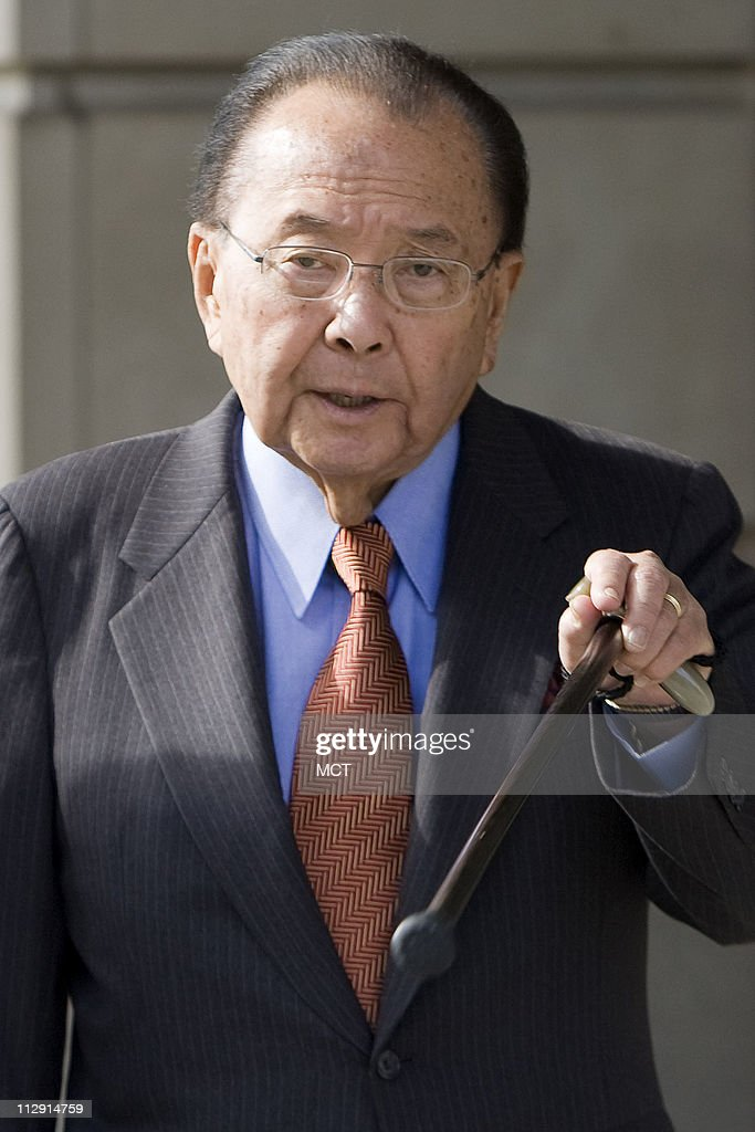 Sen. Daniel Inouye (D-HI) leaves the federal court after appearing as a witness in the corruption case of Sen. Ted Stevens (R-AK) on Thursday, October 9, 2008, in Washington, D.C.