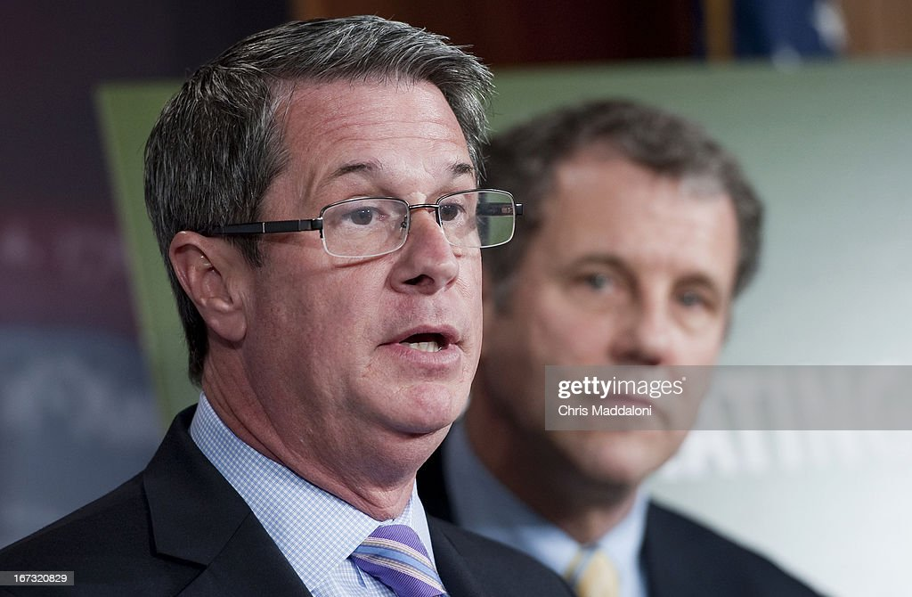 Sen. David Vitter, R-La.; and Sen. Sherrod Brown, D-Ohio hold a news conference to announce the details of 'Too Big to Fail' legislation, 'including the exact capital requirement for each tier of financial institution - that would ensure financial institutions have adequate capital to protect against losses.'
