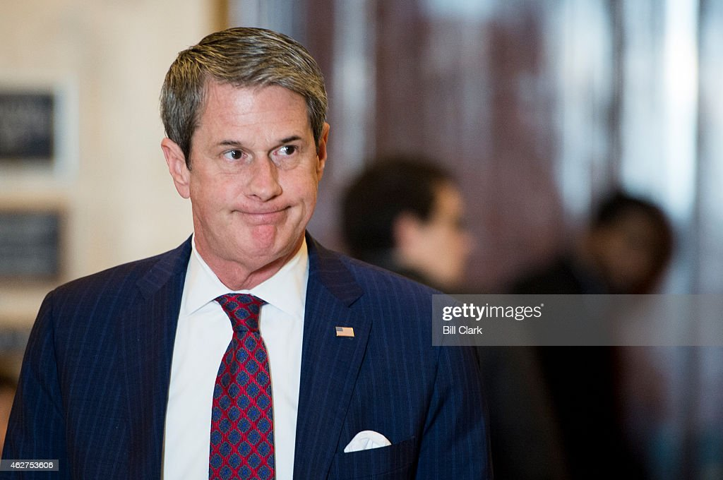 Sen. <a gi-track='captionPersonalityLinkClicked' href=/galleries/search?phrase=David+Vitter&family=editorial&specificpeople=506565 ng-click='$event.stopPropagation()'>David Vitter</a>, R-La., leaves the bipartisan Senate luncheon in the Kennedy Caucus Room in the Russell Senate Office Building on Wednesday, Feb. 4, 2015.