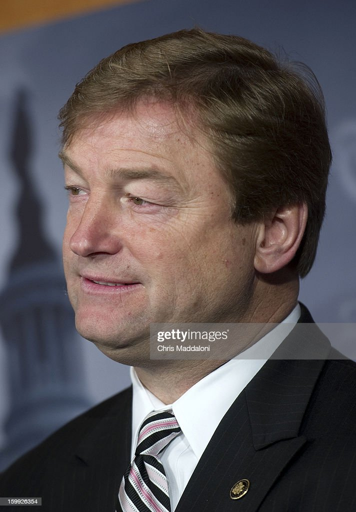 Sen. Dean Heller, R-Nev., speaks at a press conference on the 'No Budget, No Pay' bill. It would prevent lawmakers from receiving their salary if they do not pass a budget.
