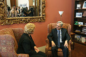 Sen Debbie Stabenow meets with Supreme Court Justice nominee Merrick Garland in her office on Capitol Hill on April 19 2016 in Washington DC Garland...