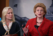 Sen Debbie Stabenow speaks about the Senate's recent failed vote for funding to fight the Zika virus on Capitol Hill June 29 2016 in Washington DC...