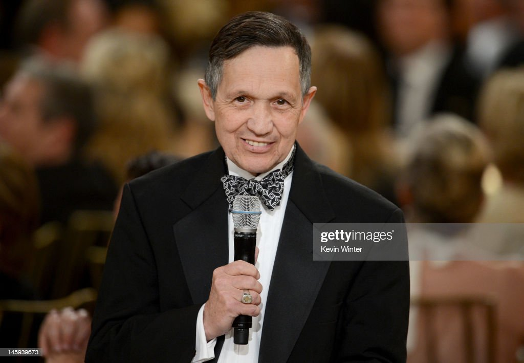 Sen Dennis Kucinich speaks at the 40th AFI Life Achievement Award honoring Shirley MacLaine held at Sony Pictures Studios on June 7 2012 in Culver...