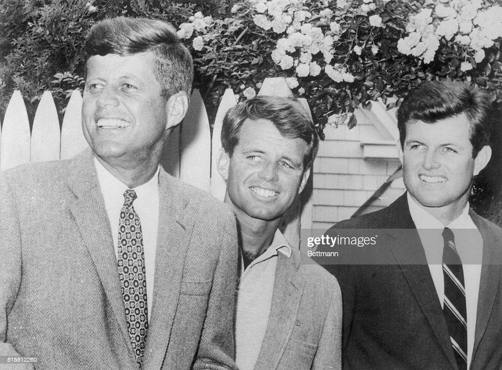 Sen. Edward Kennedy and his brothers, John Kennedy and Robert Kennedy , are shown at Hyannisport, Massachusetts. Being the complete politician is something the Senator learned from his father and brothers.