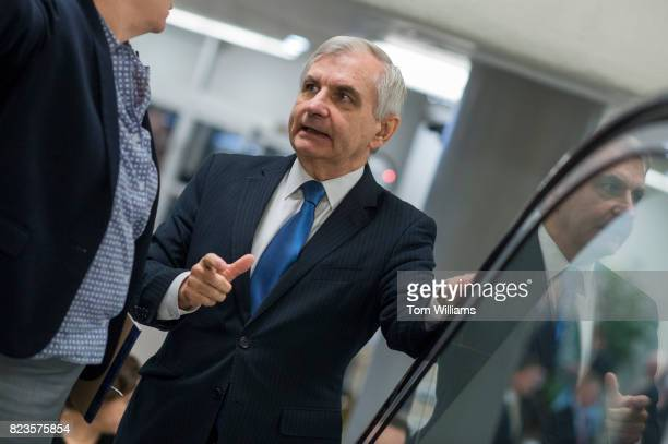 Sen Jack Reed DRI is seen in the senate subway before a lunch in the Capitol on July 27 2017