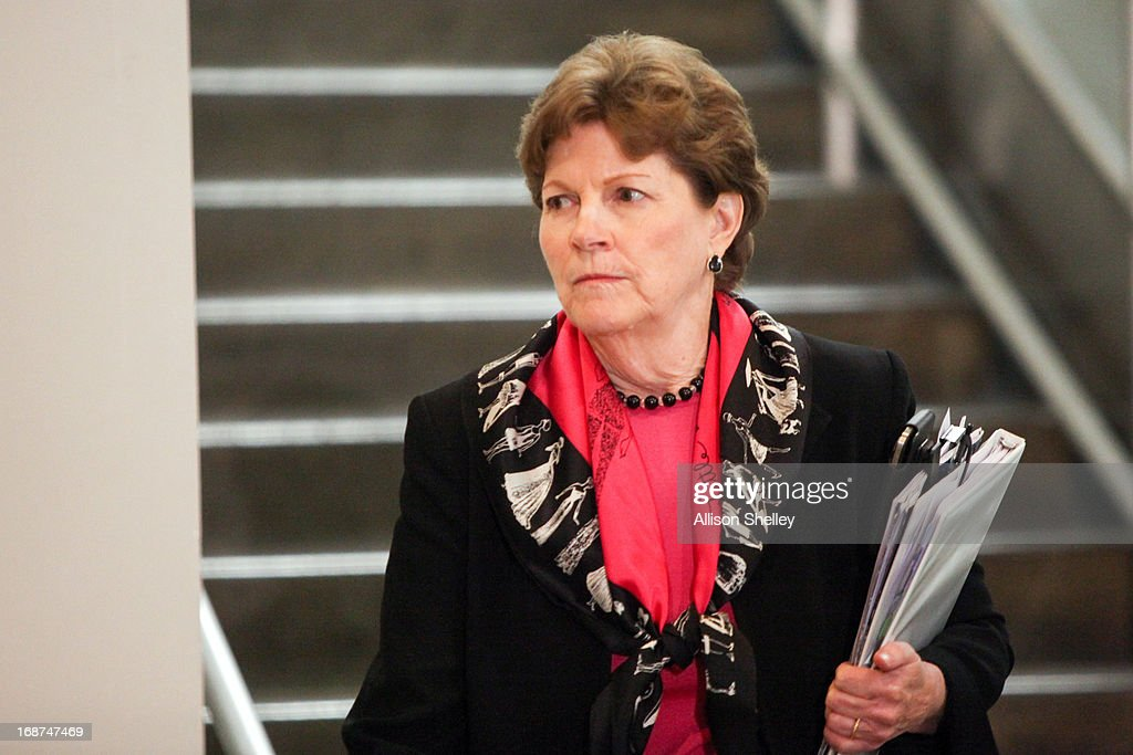 Sen. <a gi-track='captionPersonalityLinkClicked' href=/galleries/search?phrase=Jeanne+Shaheen&family=editorial&specificpeople=5591285 ng-click='$event.stopPropagation()'>Jeanne Shaheen</a> (D-NH) heads for a Senate Armed Services Committee hearing in the U.S. Capitol building May 14, 2013 in Washington, DC. Army Lt. Gen. Terry Wolff, Director of Strategic Plans and Policy, J-5, Joint Staff, and Defense Undersecretary for Policy James Miller will be briefing the committee on the situation in Syria.