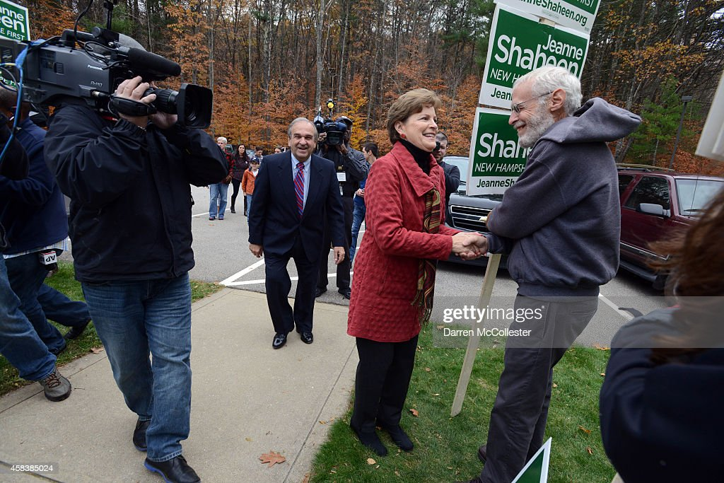 U.S. Sen. Jeanne Shaheen (D-NH) prepares to vote at Madbury Town Hall November 4, 2014 in Madbury, New Hampshire. Incumbent Shaheen is in a tight race with former Massachusetts U.S. Senator Scott Brown.