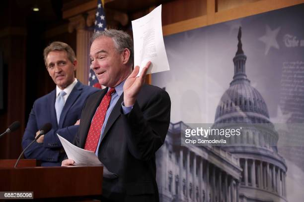 Sen Jeff Flake RAZ0 and Sen Tim Kaine talk about their introduction of a new Authorization for the Use of Military Force against the Islamic State of...
