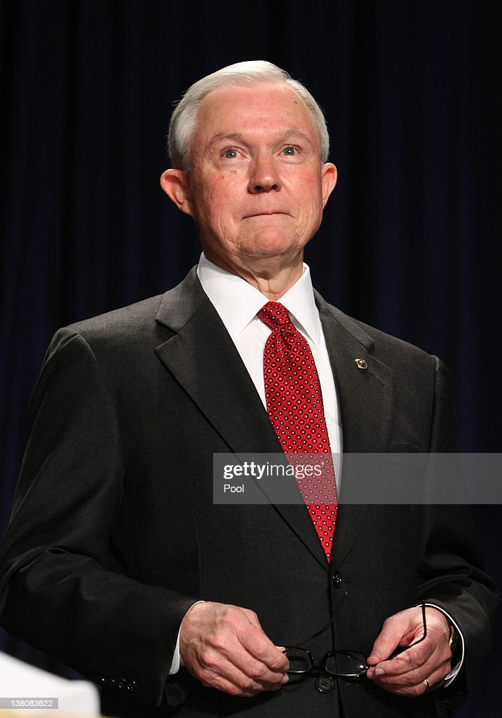 Sen. <a gi-track='captionPersonalityLinkClicked' href=/galleries/search?phrase=Jeff+Sessions&family=editorial&specificpeople=534346 ng-click='$event.stopPropagation()'>Jeff Sessions</a> (R-AL) listens during the National Prayer Breakfast February 2, 2012 in Washington, DC. U.S. President Barack Obama spoke at the breakfast, defending his economic policies in an echo of his recent State of the Union address.