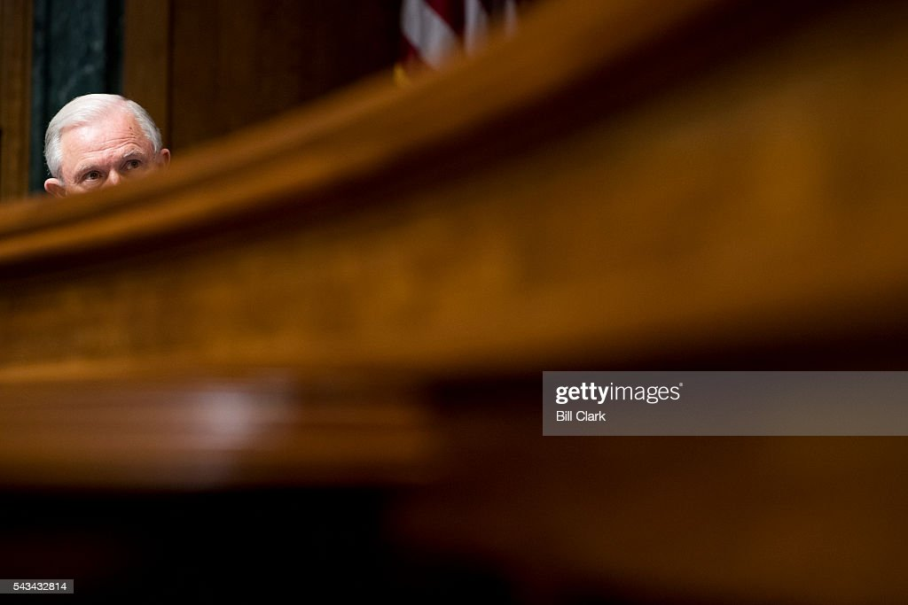 Sen. Jeff Sessions (R-AL) listens during the Subcommittee on Oversight, Agency Action, Federal Rights and Federal Courts hearing on 'Willful Blindness: Consequences of Agency Efforts To Deemphasize Radical Islam in Combating Terrorism' on Tuesday, June 28, 2016.