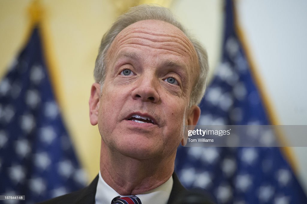 Sen. Jerry Moran, R-Kan., speaks at a news conference in the Capitol on a resolution calling on Cuba to release Maryland native Alan Gross, from prison. Gross was arrested while helping establish internet connections in a Cuban jewish community and has been imprisoned for three years.