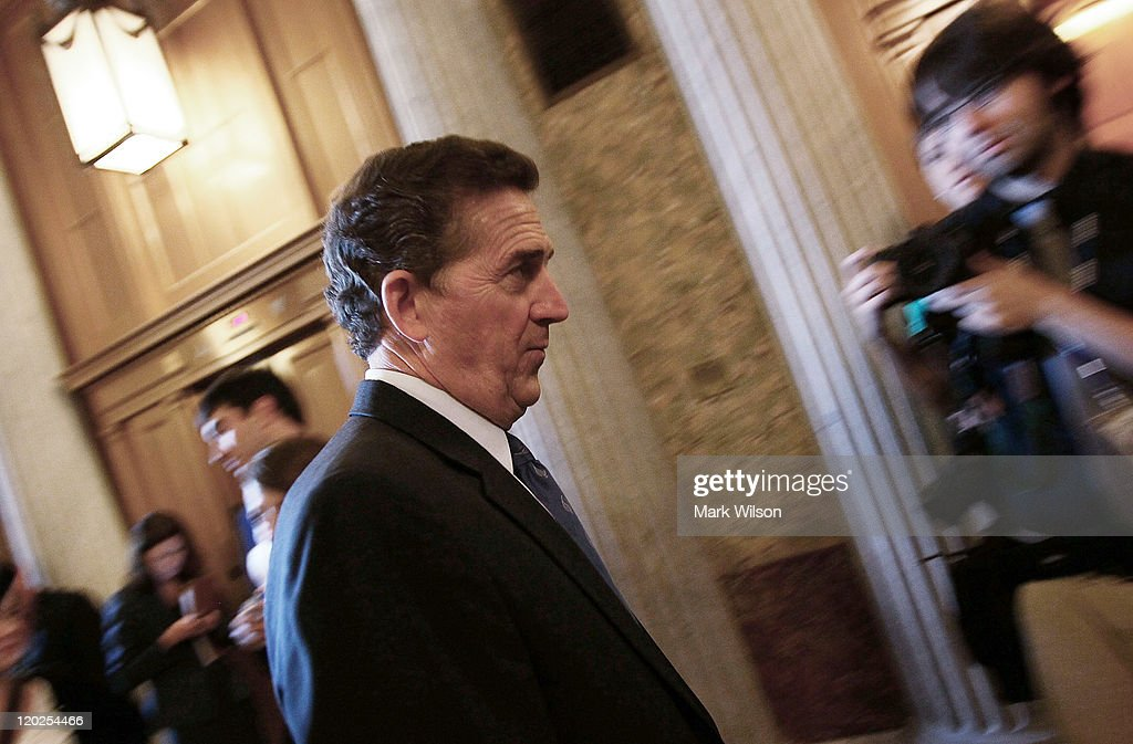 U.S. Sen. Jim DeMint (R-SC) walks away following the vote to raise the dept limit at the U.S. Capitol on August 2, 2011 in Washington, DC. Washington, DC. The Senate voted 74-26 to approve the bill to raise the debt ceiling, allowing the U.S. to avoid default on its debts.
