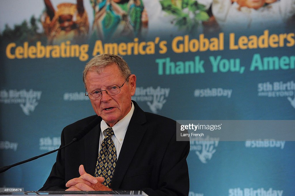 Sen. <a gi-track='captionPersonalityLinkClicked' href=/galleries/search?phrase=Jim+Inhofe&family=editorial&specificpeople=534276 ng-click='$event.stopPropagation()'>Jim Inhofe</a> (R-OK) speaks at the 5th Birthday And Beyond event at the Russell Senate Office Building on June 25, 2014 in Washington, DC.
