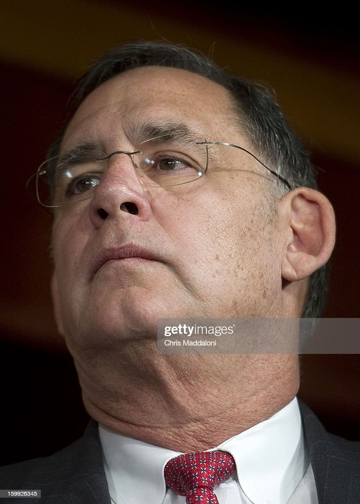 Sen. John Boozman, R-Ariz., speaks at a press conference on the 'No Budget, No Pay' bill. It would prevent lawmakers from receiving their salary if they do not pass a budget.