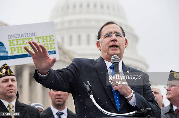 Sen John Boozman RArk attends a news conference with members of the Disabled American Veterans at the House Triangle to urge Congress to provide...