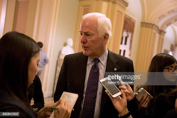 S Sen John Cornyn speaks with reporters at the US Capitol January 3 2017 in Washington DC Today marks the first day of the 115th Congress