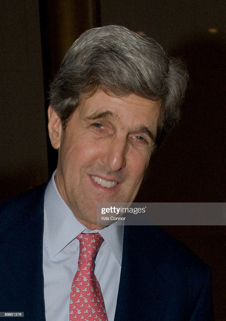 Sen. John Kerry (D-MA) walks the red carpet at Some Enchanted Evening: A Musical Birthday Salute to Senator Edward Kennedy at The Kennedy Center on March 8, 2009 in Washington, DC.