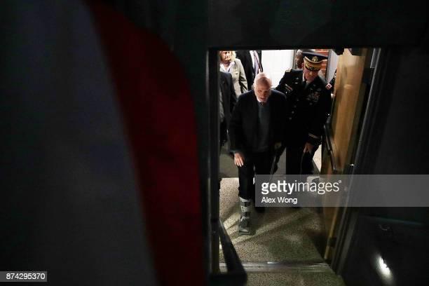 S Sen John McCain arrives at a special Twilight Tattoo performance November 14 2017 at Fort Myer in Arlington Virginia Sen McCain was honored for...