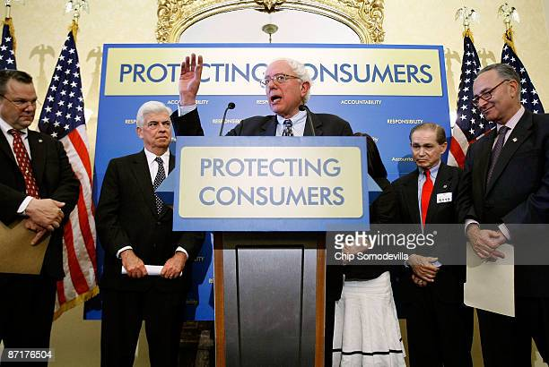Sen Jon Tester Senate Banking Committee Chairman Chrisopher Dodd Sen Bernard Sanders Don Guilford of Don Moore of Guilford Conn and Sen Charles...