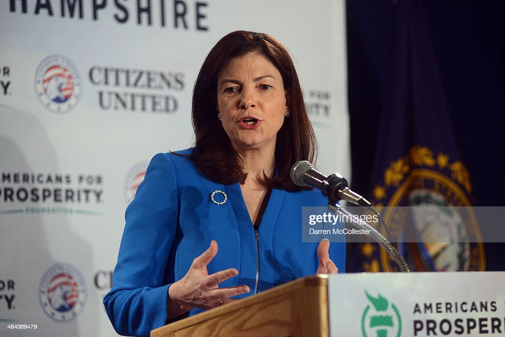U.S. Sen. Kelly Ayotte (R-NH) speaks at the Freedom Summit at The Executive Court Banquet Facility April 12, 2014 in Manchester, New Hampshire. The Freedom Summit held its inaugural event where national conservative leaders bring together grassroots activists on the eve of tax day. Photo by Darren McCollester/Getty Images)