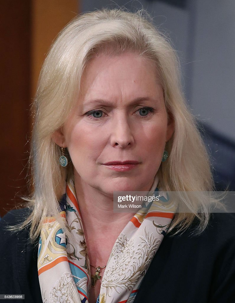 Sen. Kirsten Gillibrand (D-NY), attends a news conference to discuss the Senate's recent failed vote for funding to fight the Zika virus, on Capitol Hill June 29, 2016 in Washington, DC.