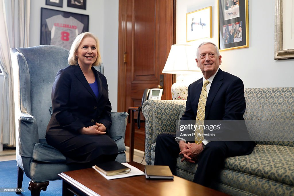 Trump's Selection For Defense Secretary Meets With Sen. Gillibrand At The Capitol