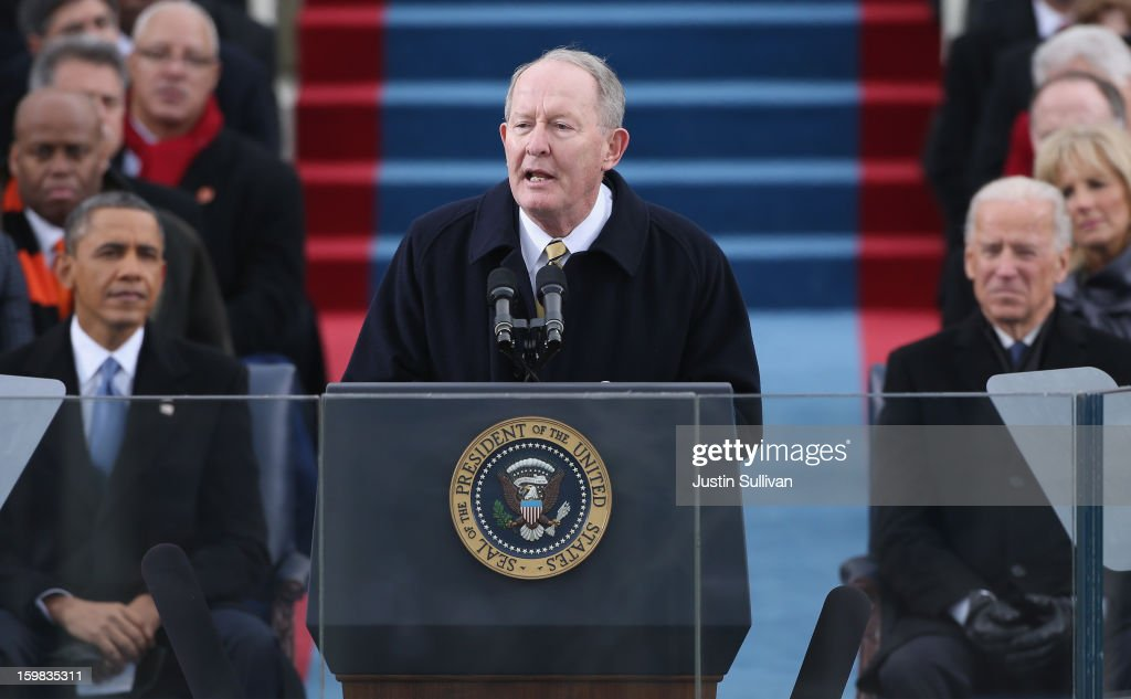 Sen. Lamar Alexander (R-TN) delivers call to order during the presidential inauguration on the West Front of the U.S. Capitol January 21, 2013 in Washington, DC. Barack Obama was re-elected for a second term as President of the United States.