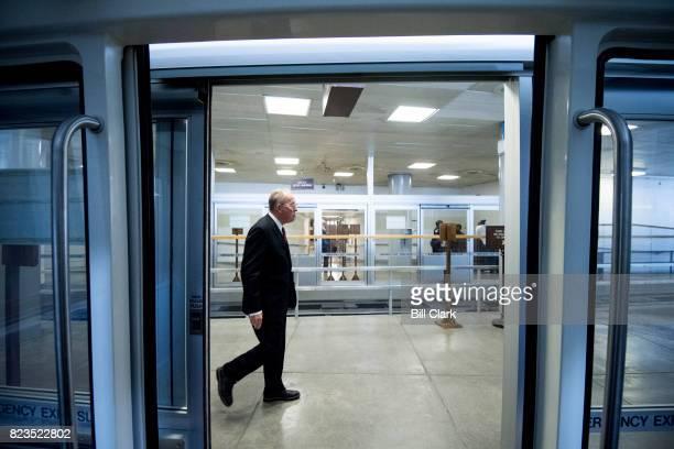 Sen Lamar Alexander RTenn exits the Dirksen/Hart subway in the Dirksen Senate Office Building on Thursday July 27 2017