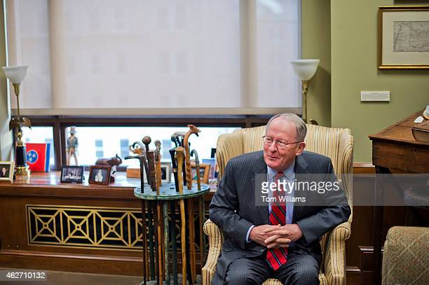 Sen Lamar Alexander RTenn is interviewed by CQ Roll Call in his Dirksen Building office February 2 2015