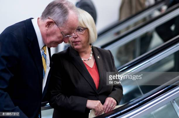 Sen Lamar Alexander RTenn speaks with Sen Patty Murray DWash as they arrive in the Capitol for a vote on Wednesday July 19 2017