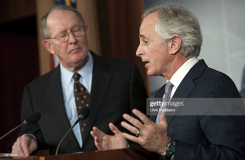 Sen. Lamar Alexander, R-Tn., and Sen. Bob Corker, R-Tn., hold a press conference to talk about their alternatives to the Democrat's approach to solving the 'Fiscal Cliff.'