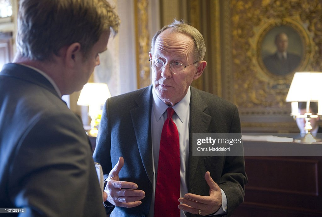 Sen. Lamar Alexander, R-Tn.,speaks to the press at the weekly Senate luncheons in the Capitol.