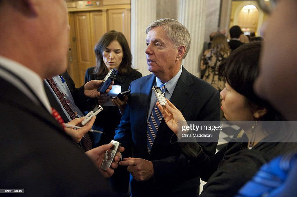Sen. Lindsey Graham, R-S.C., speaks to the press about the fiscal cliff after the weekly Senate luncheons. Congress and the President have until the end of the year to solve the ongoing budget crisis.