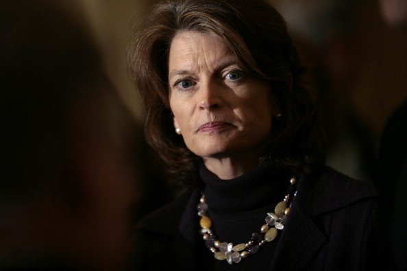 US Sen Lisa Murkowski is shown on Capitol Hill in Washington DC on March 3 2009