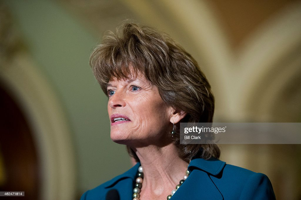 Sen. <a gi-track='captionPersonalityLinkClicked' href=/galleries/search?phrase=Lisa+Murkowski&family=editorial&specificpeople=3134392 ng-click='$event.stopPropagation()'>Lisa Murkowski</a>, R-AK, speaks with reporters following the cloture vote on the Keystone pipeline on Thursday, Jan. 29, 2015.