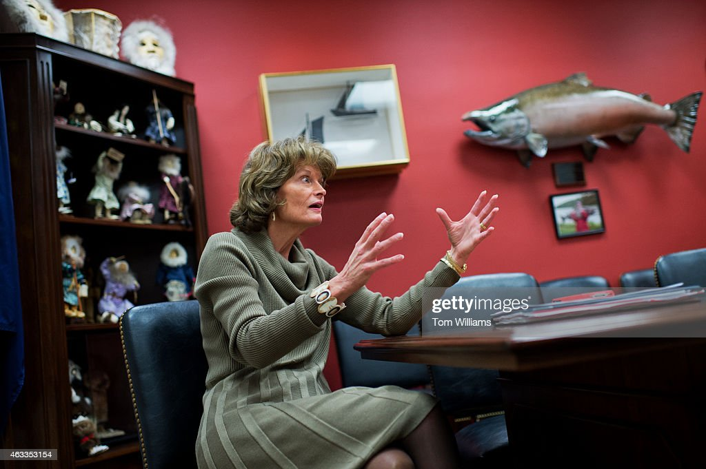 Sen Lisa Murkowski RAlaska is interviewed by CQ Roll Call in her Hart Building office February 12 2015