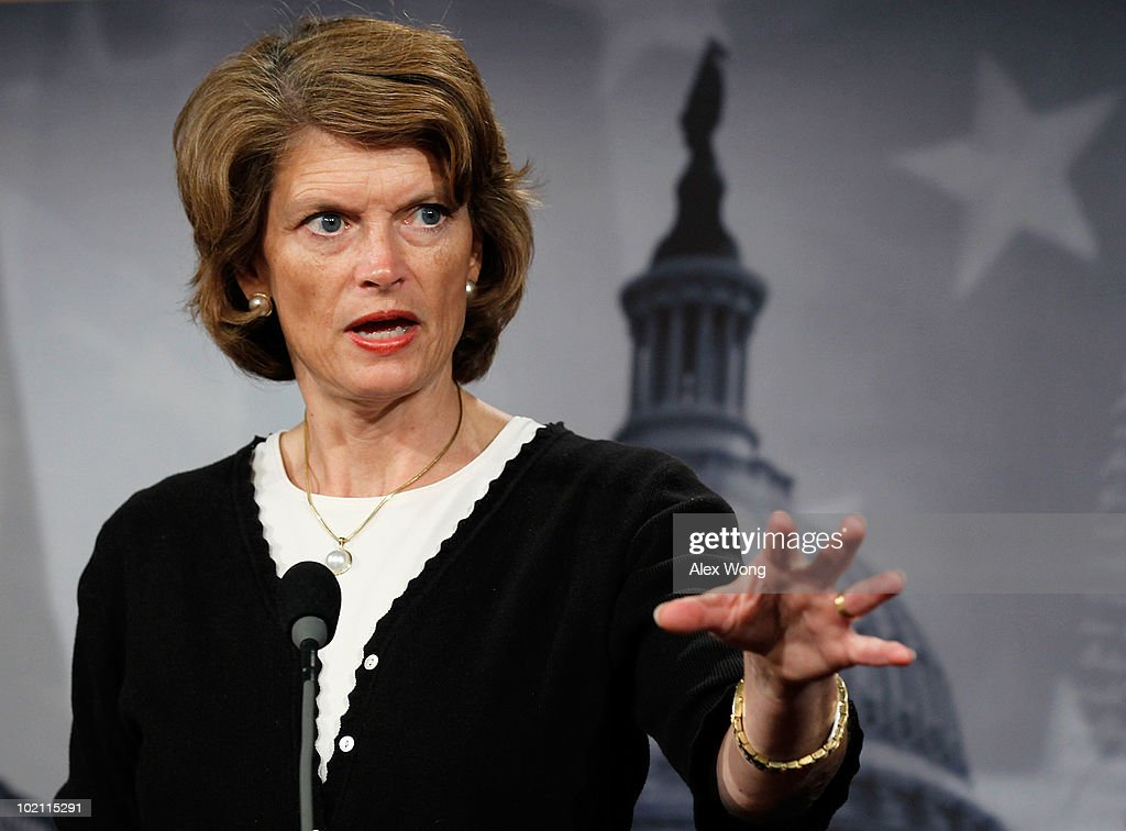 U.S. Sen. <a gi-track='captionPersonalityLinkClicked' href=/galleries/search?phrase=Lisa+Murkowski&family=editorial&specificpeople=3134392 ng-click='$event.stopPropagation()'>Lisa Murkowski</a> (R-AK) speaks during a news conference June 15, 2010 on Capitol Hill in Washington, DC. Murkowski spoke on the Oil Spill Compensation Act of 2010 that she proposes will increase the tax companies pay into the Oil Spill Liability Trust Fund from 8 cents to 21 cents in order to clean up after oil spills.