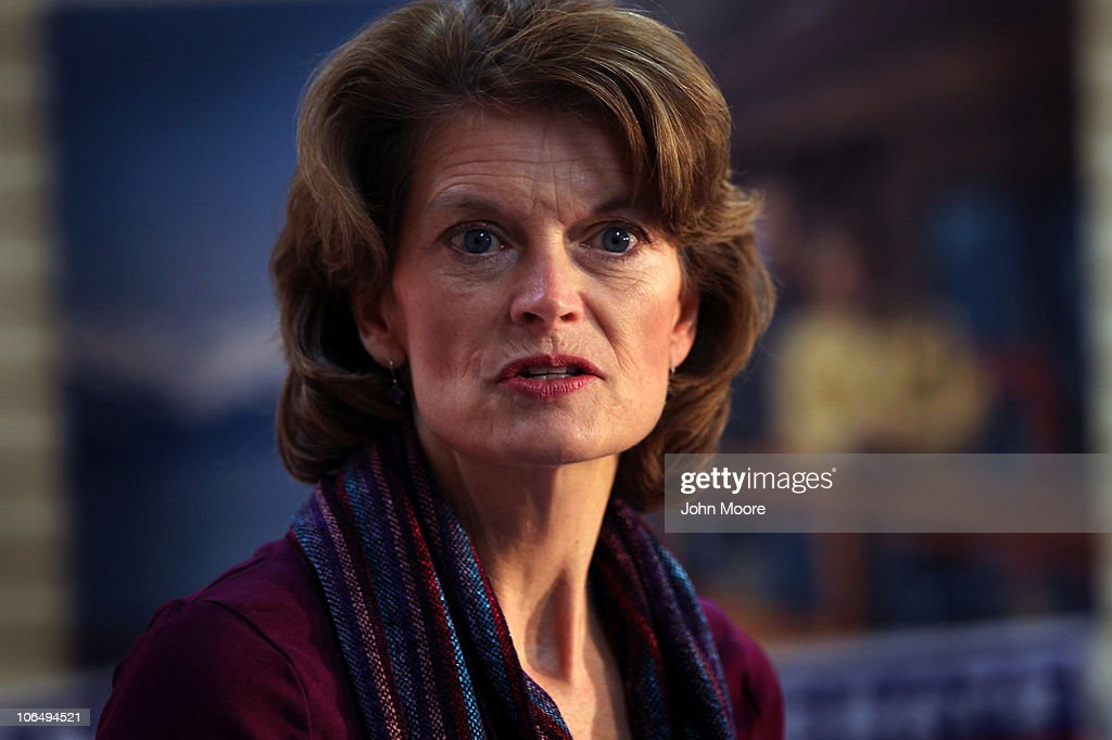 S Sen Lisa Murkowski speaks during a postelection press conference November 3 2010 in Anchorage Alaska Murkowski defended her seat as a writein...
