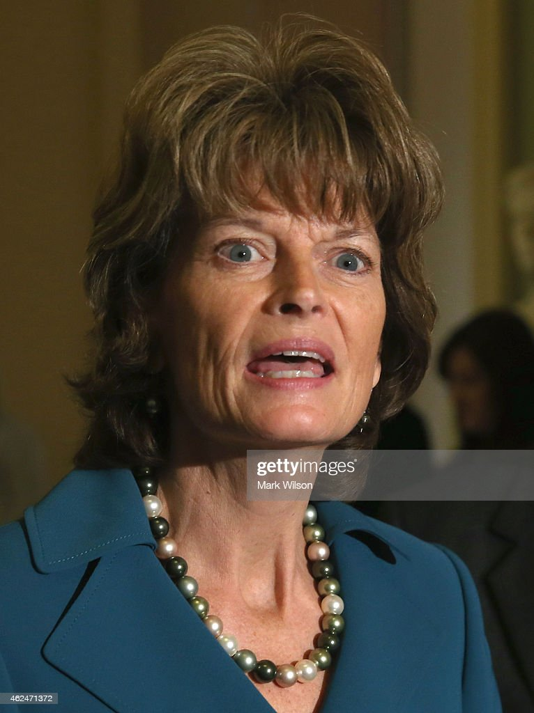 Sen Lisa Murkowski speaks on January 29 2015 at the US Capitol in Washington DC The US Senate is holding a cloture vote on the Keystone XL Pipeline