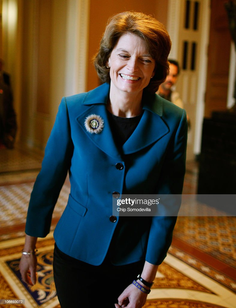 Sen Lisa Murkowski walks through the hall of the US Capitol November 15 2010 in Washington DC Final results in Murkowski's closely contested Senate...