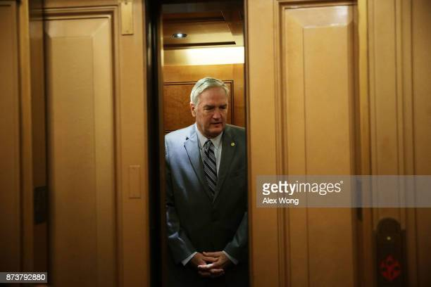 S Sen Luther Strange takes the elevator as he arrives at the Capitol for a vote November 13 2017 in Washington DC